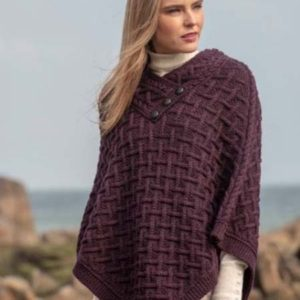 N101 Connemara Super Soft Poncho