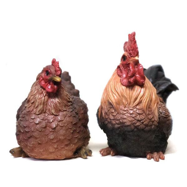 Chicken & Rooster Figurines