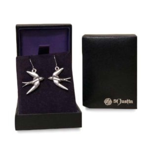 St Justin Silver Earrings Doves