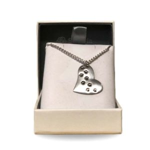 St Justin Pawprint Necklace