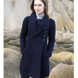 X4416 Burren Chunky Collar Coat