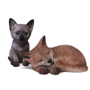 Cat and Fox Figurine