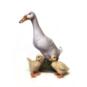 Duck with Ducklings Figurine